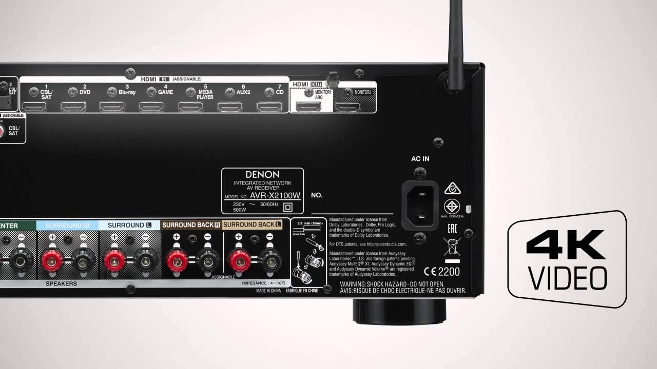 Denon AVR-X1100W Vs AVR-X2100W