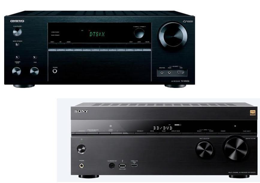 Onkyo TX NR656 vs Sony STR DN1070 1
