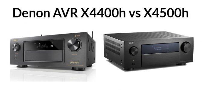 Denon AVR X4400H vs X4500H