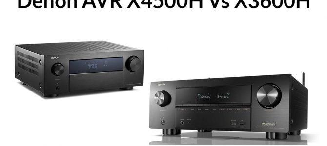Denon AVR X4500H Vs X3600H