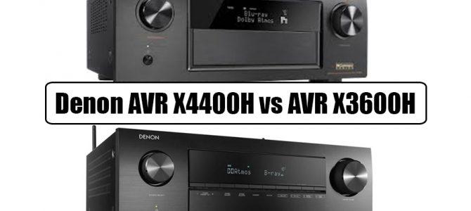 Denon AVR X4400H vs AVR X3600H